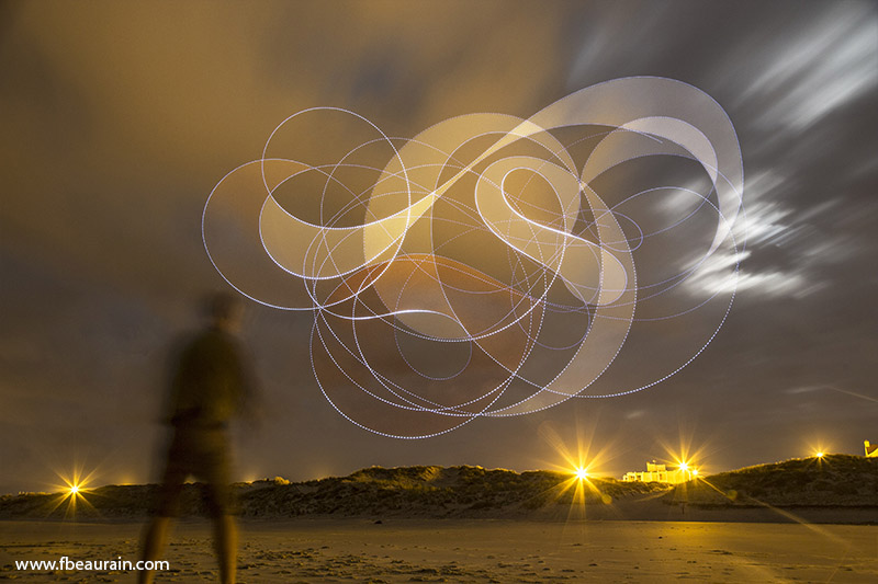LED, Sky painting, light painting, kite